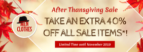 Thanksgiving Sale Beige Facebook Cover Photo