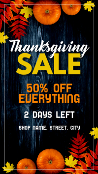 Thanksgiving Sale Instagram 故事 template