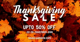 Thanksgiving Sale Sampul Acara Facebook template