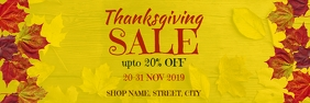 Thanksgiving sale Banner 2' × 6' template