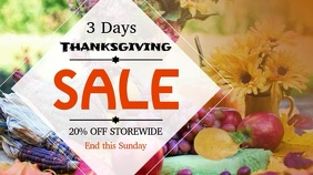 Thanksgiving Sale Digital Display Video