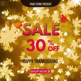 Thanksgiving Sale DiScount Instagram Post template