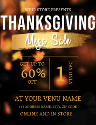 Thanksgiving Sale Flyer Template