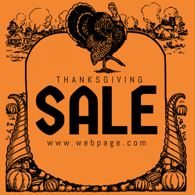 thanksgiving sale instagram post template