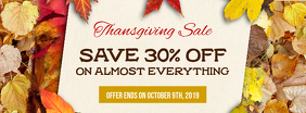 Thanksgiving Sale Leaves Facebook Cover