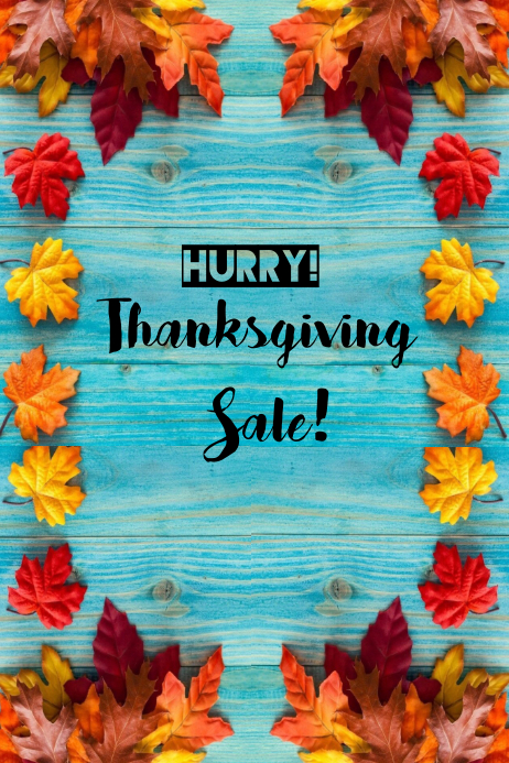 Thanksgiving Sale Poster