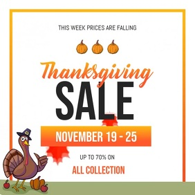 Thanksgiving Sale Square Video
