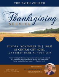 Thanksgiving Service Church Flyer Template