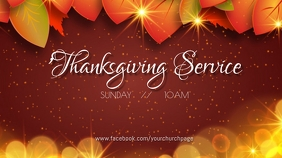 Thanksgiving Service Digitalt display (16:9) template