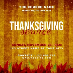 Thanksgiving Service Instagram Post Template