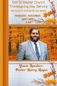 Thanksgiving Service Template