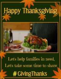 Thanksgiving Share Video Folder (US Letter) template