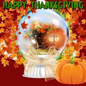 Thanksgiving Snow Globe