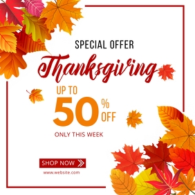 Thanksgiving special offer sale template Pos Instagram