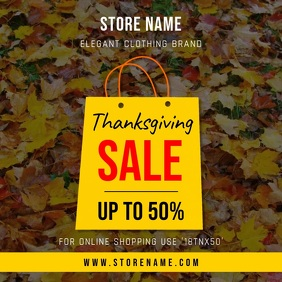 Thanksgiving Store Sale Square Video