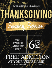 Thanksgiving Sunday Event Flyer Template