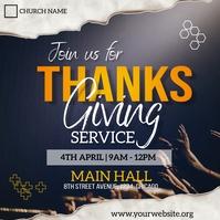 thanksgiving sunday service flyer โพสต์บน Instagram template
