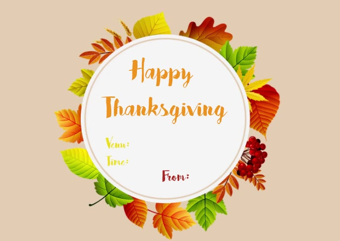 Thanksgiving Templates Kartu Pos