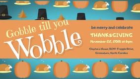 Thanksgiving Turkey Dinner Cover Video Template