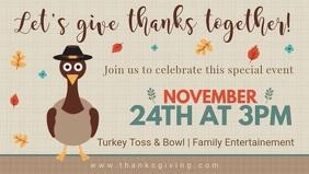 Thanksgiving Turkey Dinner Facebook Cover Invitation