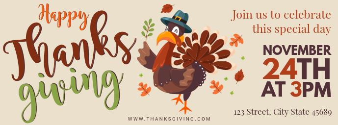 Thanksgiving Turkey Dinner Invite Facebook Cover