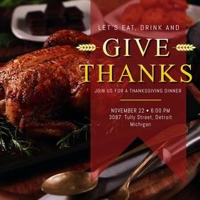 Thanksgiving Turkey Dinner Video Ad