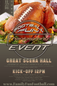 Thanksgiving Turkey Fall Autumn Football Sports Community