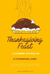 Thanksgiving Turkey Feast Flyer Design