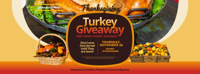 Thanksgiving Turkey Giveaway Facebook Cover P template
