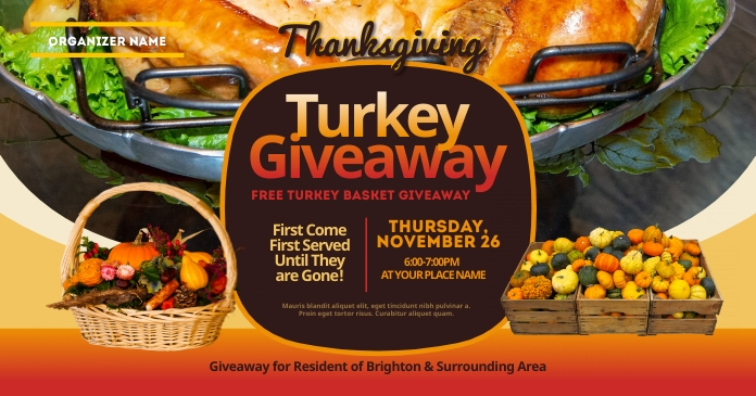 Thanksgiving Turkey Giveaway Facebook Shared