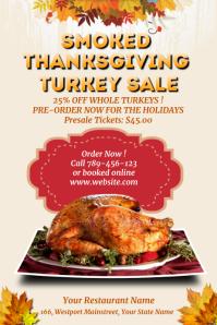 Thanksgiving Turkey Sale Template โปสเตอร์