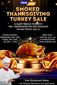 Thanksgiving Turkey Sale Template Affiche