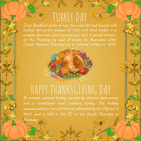 Thanksgiving Turkey Square Image