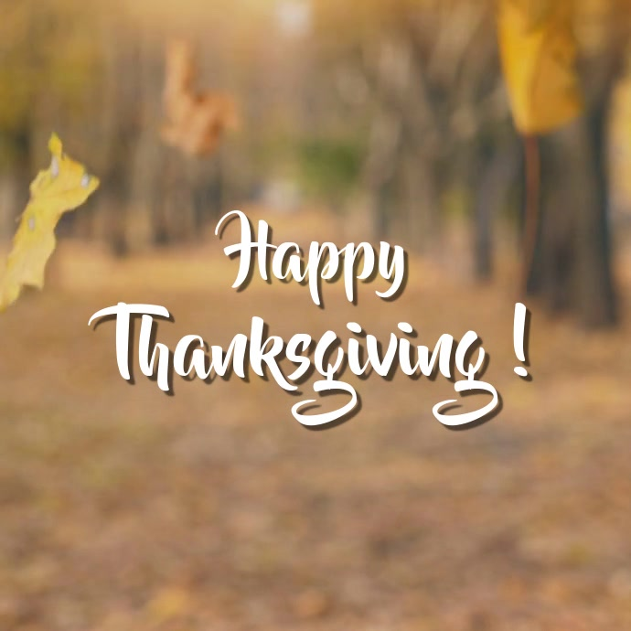 Thanksgiving video greeting