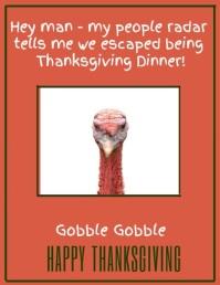 Thanksgiving Video Humor Flyer