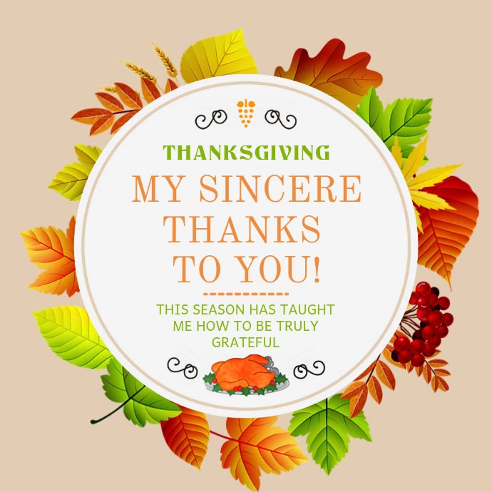 Thanksgiving Wish Instagram Square Video