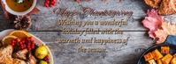 Thanksgiving Wishes Facebook-coverfoto template