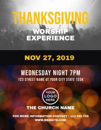 Thanksgiving Worship Church Flyer Template