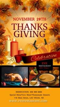 thanksgiving5 เรื่องราวบน Instagram template