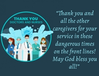 Thankyou doctors and nurses card Volantino (US Letter) template