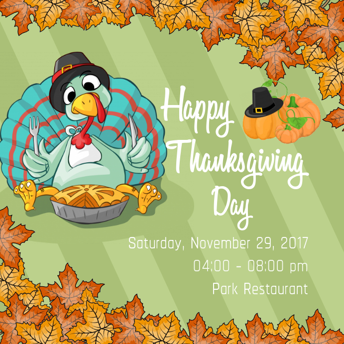 Thansgiving Day Instagram Invite
