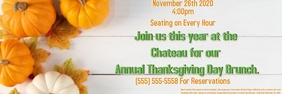 Thanskgiving Day Banner 2' × 6' template