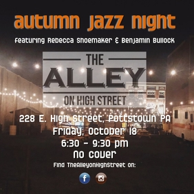 the Alley October Jazz Nite