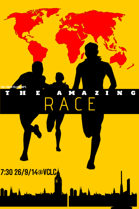 the amazing race template postermywall