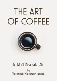 the art of coffee tasting journal book cover A4 template