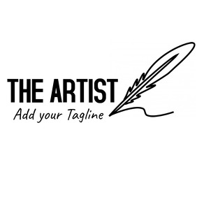 the artist logo - black and white