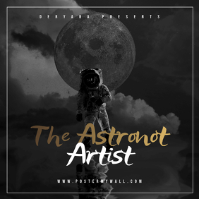 The Astronot CD Cover Art Template