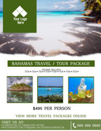 The Bahamas Tour / Travel Flyer Template