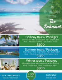 The Bahamas Travel Poster Flyer Template