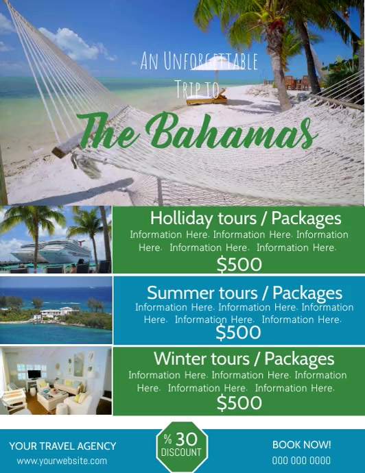 The Bahamas Travel Video Flyer Template